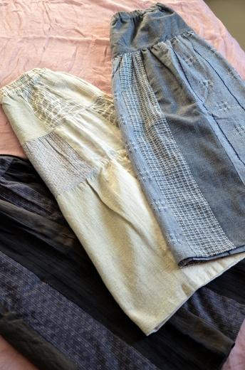 ステキな生地のスカートたち